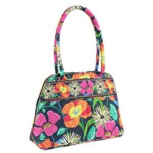 like new VERA BRADLEY Jazzy Blooms Bowler Bag